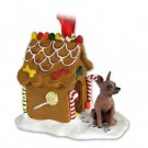 Min Pin, Red & Brown Ginger Bread House