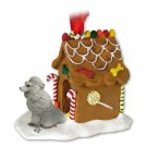 Poodle, Gray Ginger Bread House
