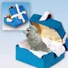 Poodle, Gray Blue Gift Box Ornament