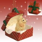 Poodle, Apricot Red Gift Box Ornament