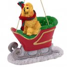Poodle, Apricot Sleigh Ride Ornament