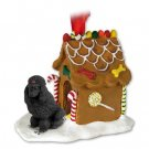 Poodle, Black Ginger Bread House
