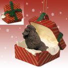 Poodle, Chocolate Red Gift Box Ornament