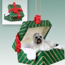 Lhasa Apso, Gray Green Gift Box Ornament