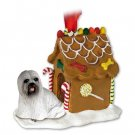 Lhasa Apso, Gray Ginger Bread House
