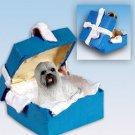 Lhasa Apso, Gray Blue Gift Box Ornament
