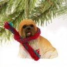 Lhasa Apso, Brown Christmas Ornament