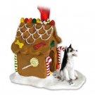 Husky, Black & White, Brown Eyes Ginger Bread House