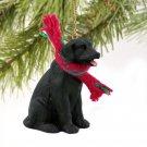 Labrador Retriever, Black Christmas Ornament
