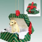 Labrador Retriever, Yellow Green Gift Box Ornament