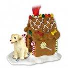 Labrador Retriever, Yellow Ginger Bread House