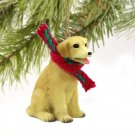 Labrador Retriever, Yellow Christmas Ornament