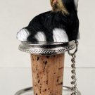 Shih Tzu, Black & White Bottle Stopper