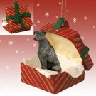 Greyhound, Brindle Red Gift Box Ornament