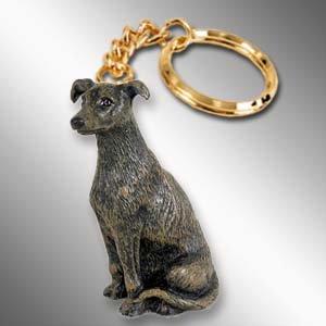 Greyhound, Brindle Keychain