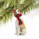 Greyhound, Tan & White Christmas Ornament