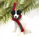 Jack Russell Terrier, Black & White, Rough Coat Christmas Ornament