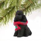 Poodle, Black, Sport cut Christmas Ornament
