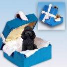 Poodle, Black, Sport cut Blue Gift Box Ornament