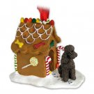 Poodle, Chocolate, Sport cut Ginger Bread House