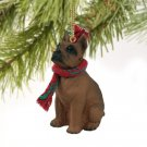 Boxer, Tawny Christmas Ornament