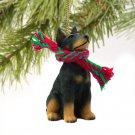 Doberman, Black Christmas Ornament