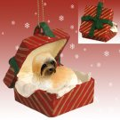 Lhasa Apso, Brown, Sport cut Red Gift Box Ornament