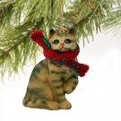 Shorthair Brown Tabby Christmas Ornament