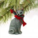 Cornish Rex Blue Christmas Ornament