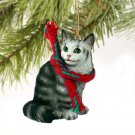 Maine Coon Silver Tabby Christmas Ornament