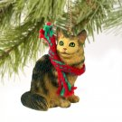 Maine Coon Brown Tabby Christmas Ornament