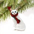 Oriental Shorthair White Christmas Ornament