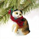 Scottish Fold Tortoise & White Christmas Ornament