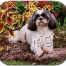 Shih Tzu, Black & White, Sport cut Mouse Pad