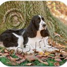 Springer Spaniel, Black & White Mouse Pad