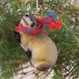 Badger Christmas Ornament
