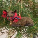 Goat, Brown Christmas Ornament