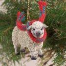 Sheep, White Christmas Ornament