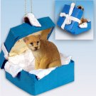 Cougar Blue Gift Box Ornament