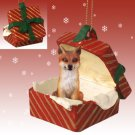 Fox, Red, Red Gift Box Ornament