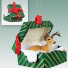 Deer, Buck Green Gift Box Ornament