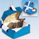 Elk, Cow Blue Gift Box Ornament