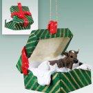 Guernsey Bull Green Gift Box Ornament