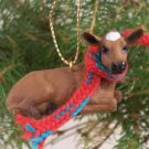 Guernsey Cow Christmas Ornament