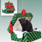 Panther Green Gift Box Ornament