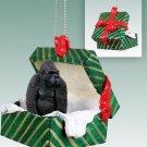 Gorilla Green Gift Box Ornament