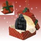 Gorilla Red Gift Box Ornament