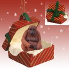 Orangutan Red Gift Box Ornament