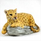Leopard on Rock Standard Figurine