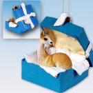 Llama Blue Gift Box Ornament